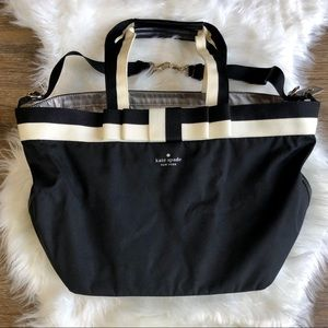 Kate Spade Black Bow Tie Nylon Diaper Bag